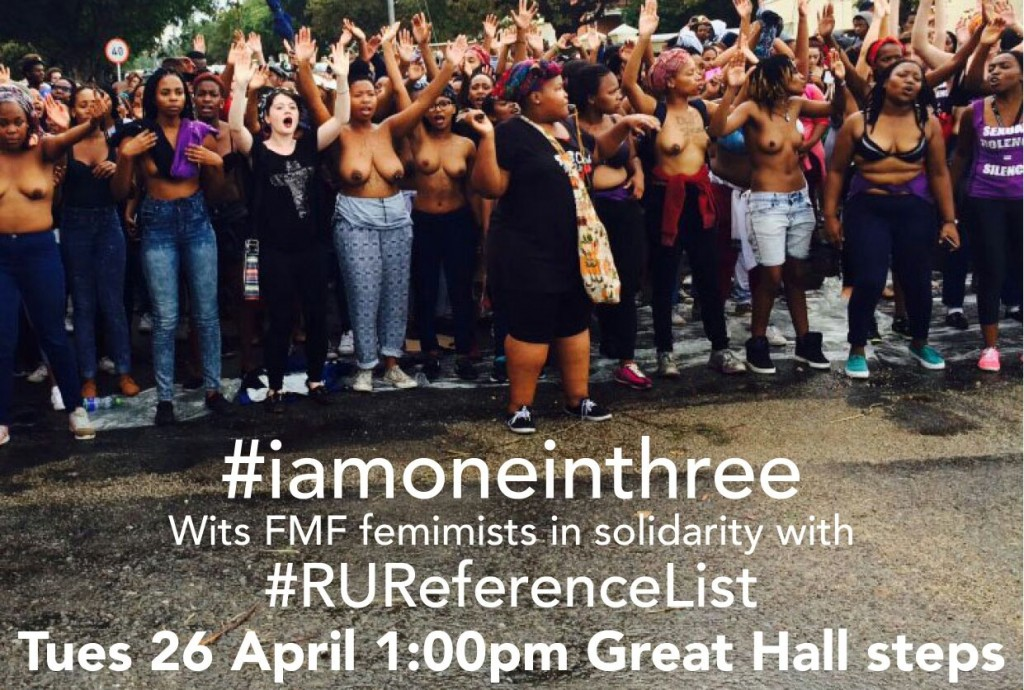 #iamoneinthree: A call to stand with #RUReferenceList against rape culture