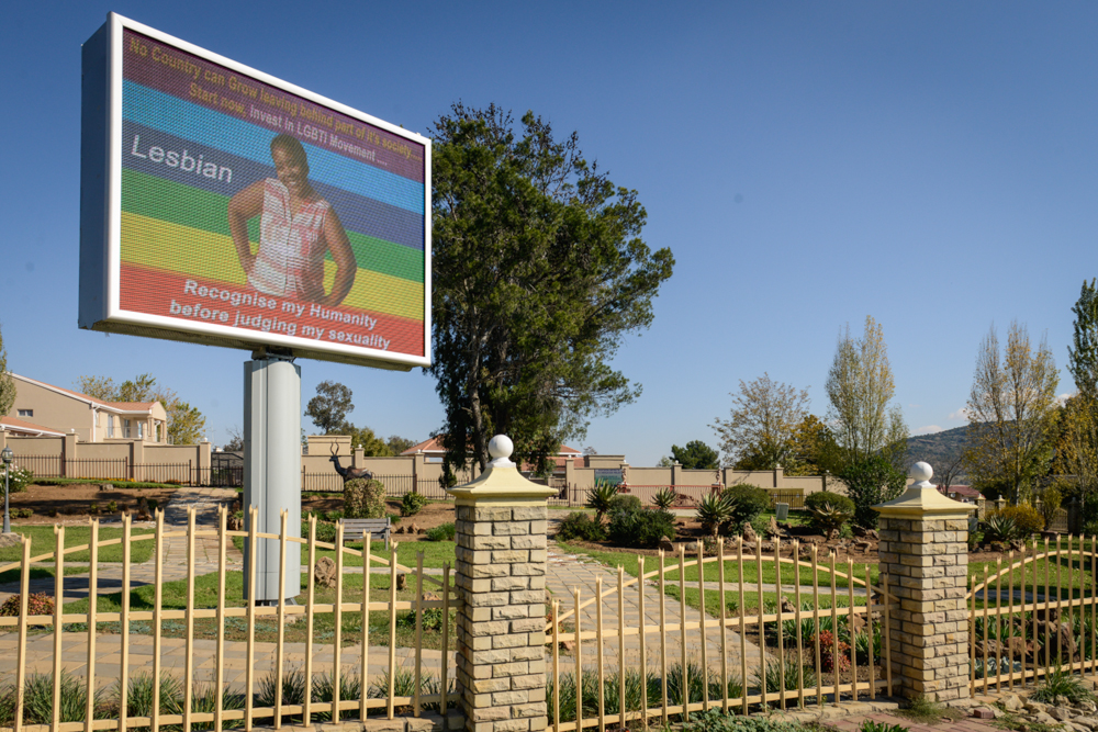 Billboard campaign encourages LGBTI visibility in Lesotho