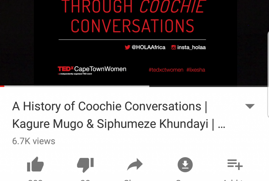 HOLAA Loves: Our First (and only) Ted X Talk – A History of Coochie Conversations