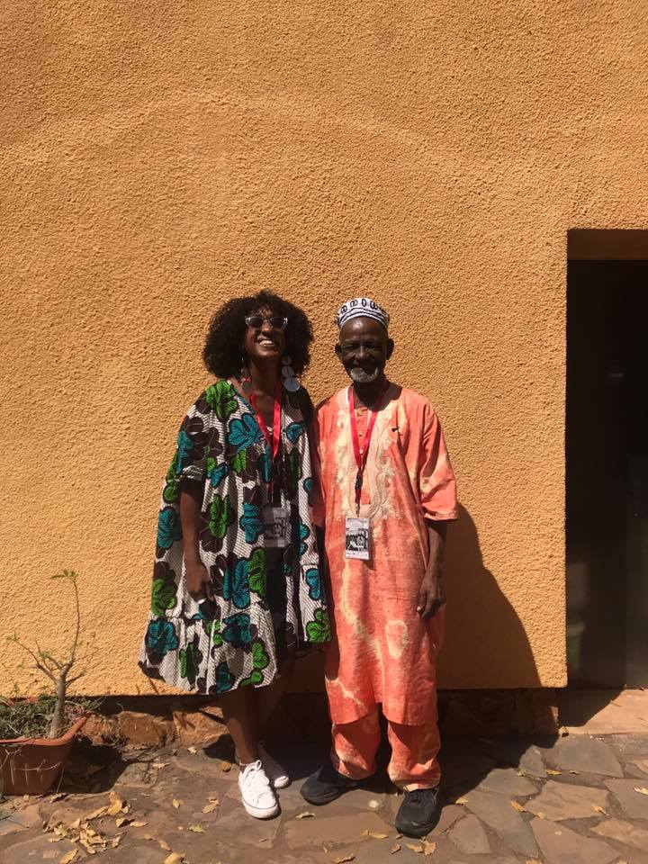 Sarah Waiswa with James Barnor at Bamako Biennale